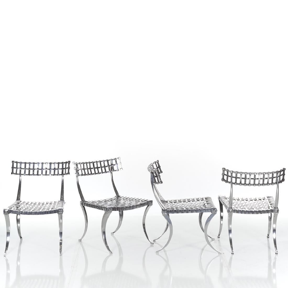 Thinline Klismos Dining Set (5) - 3