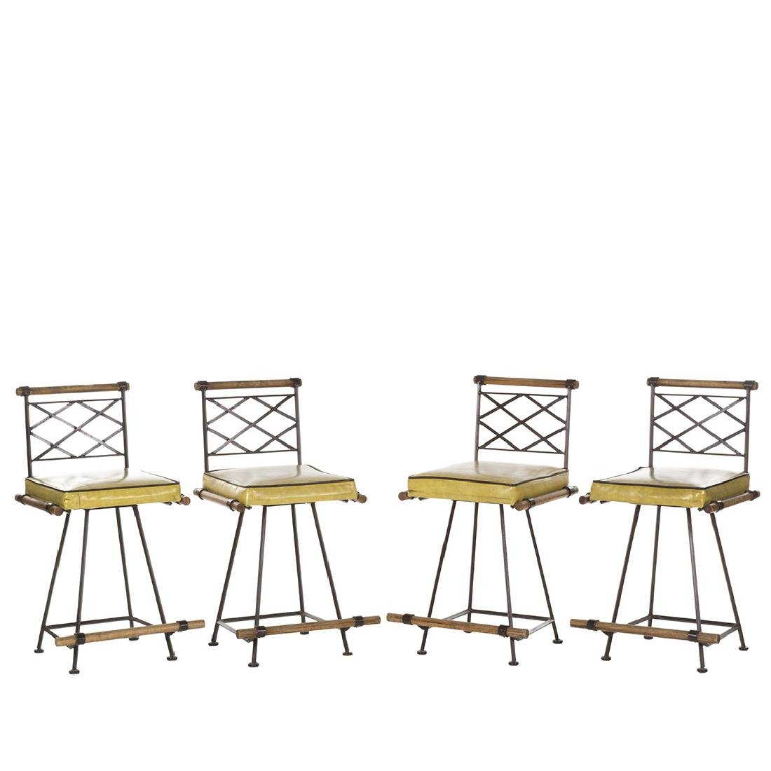 Cleo Baldon Style or Iron and Oak Barstools (4)