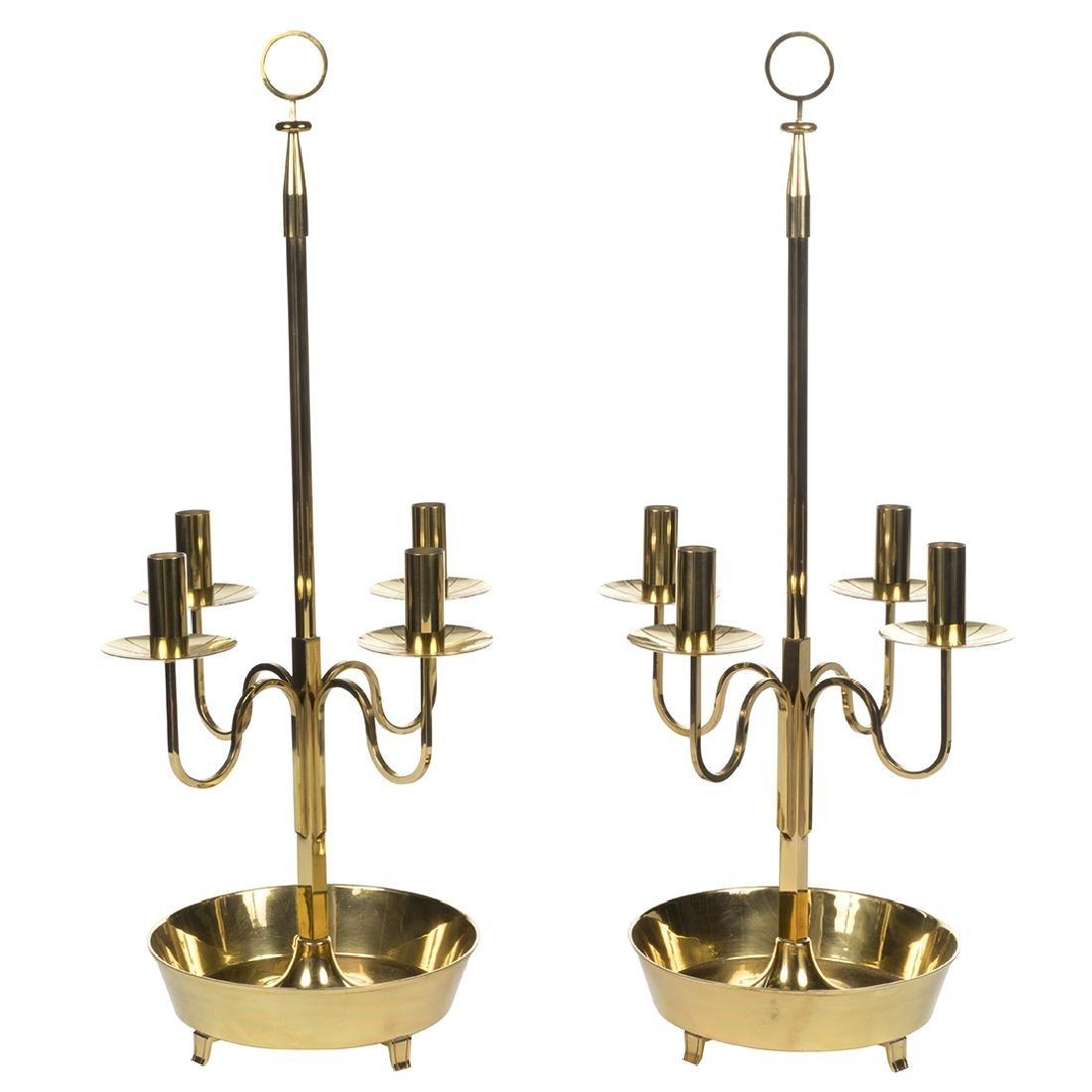 Tommi Parzinger Brass Candelabras (2)