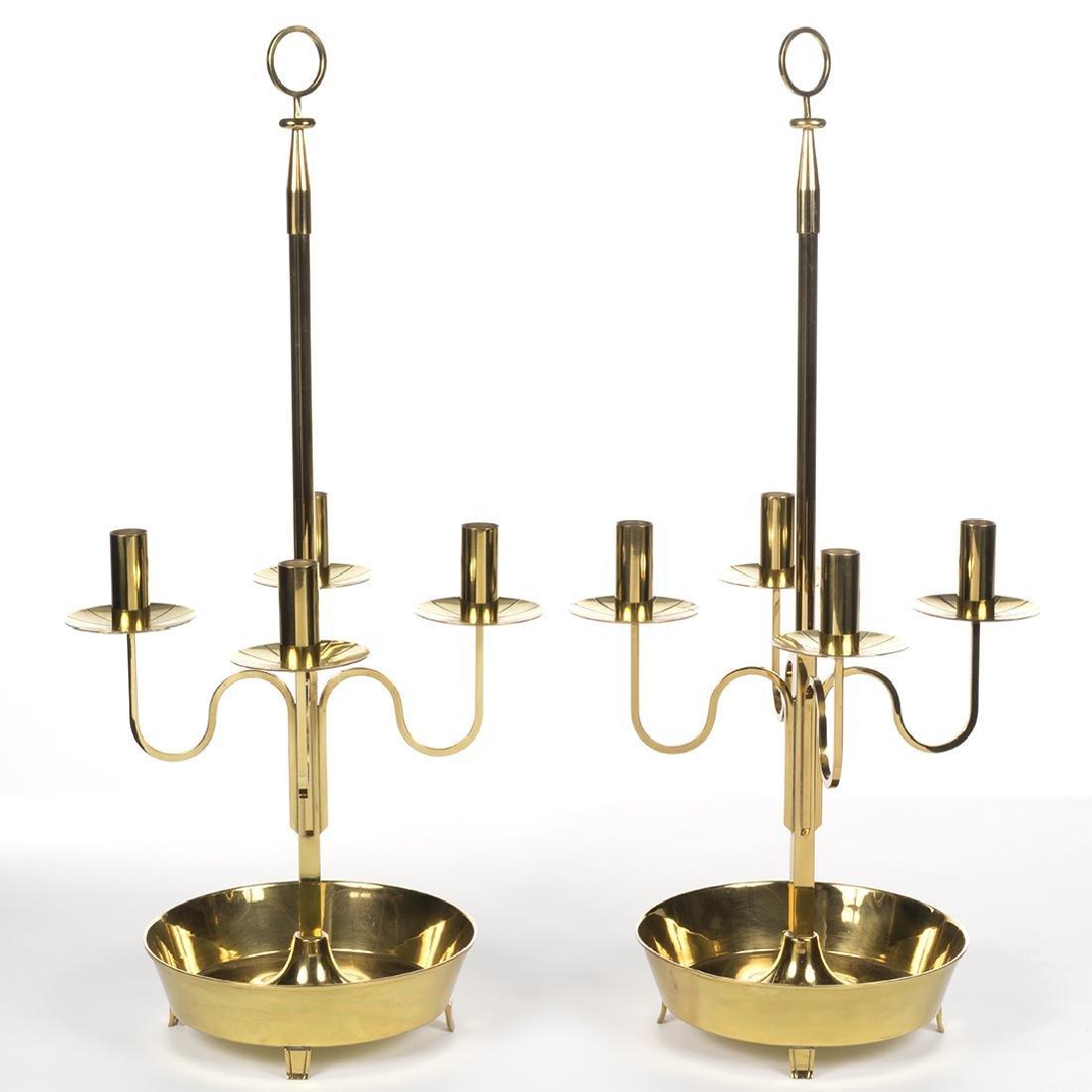 Tommi Parzinger Brass Candelabras (2) - 3