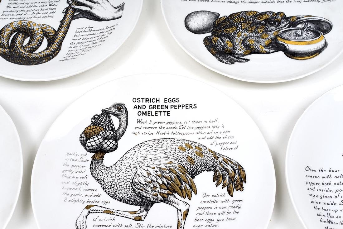 Piero Fornasetti Recipe Plates (6) - 2