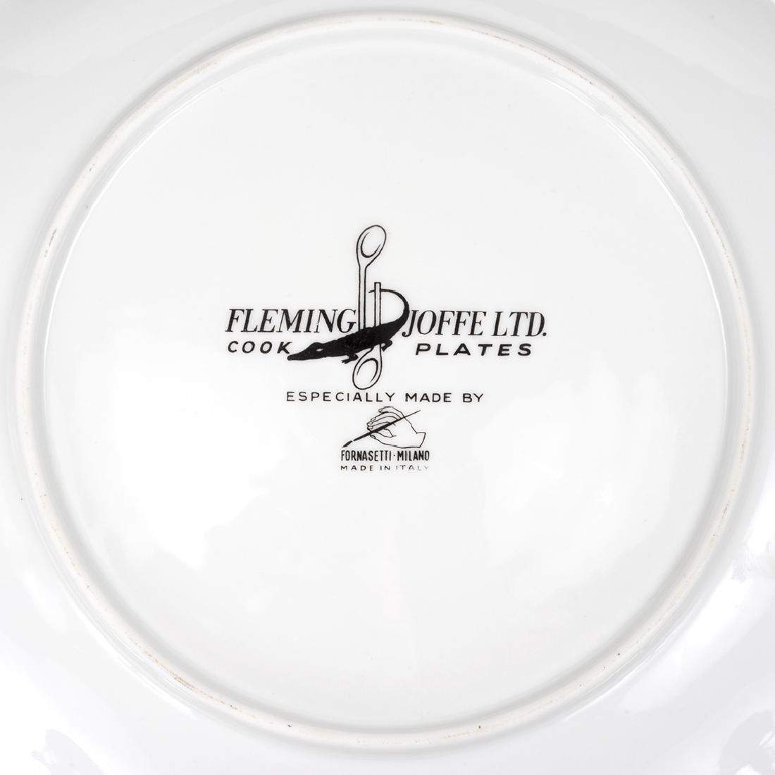 Piero Fornasetti Recipe Plates (6) - 3