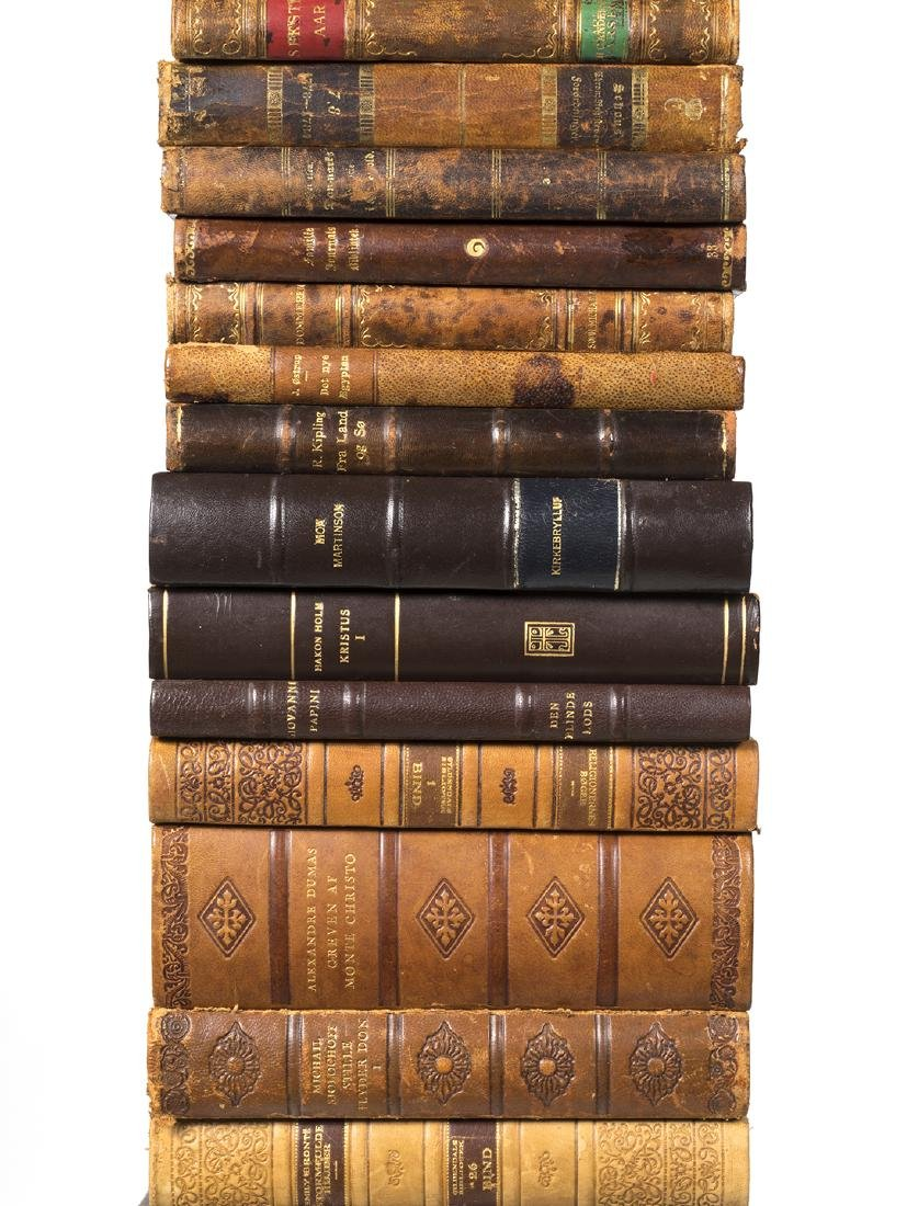 Danish leather bound books (40) - 2