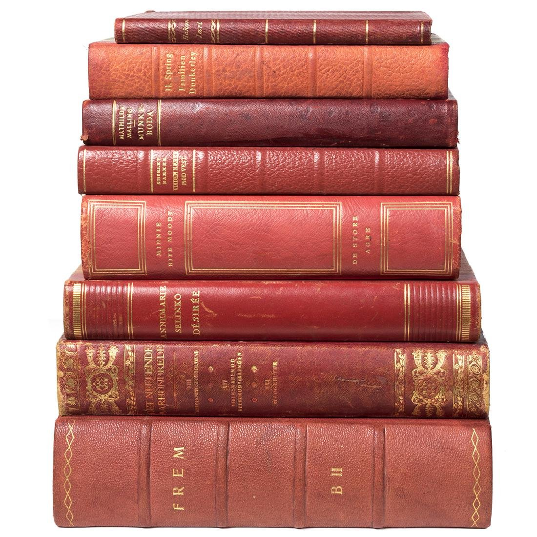 Danish leather bound books (40) - 4