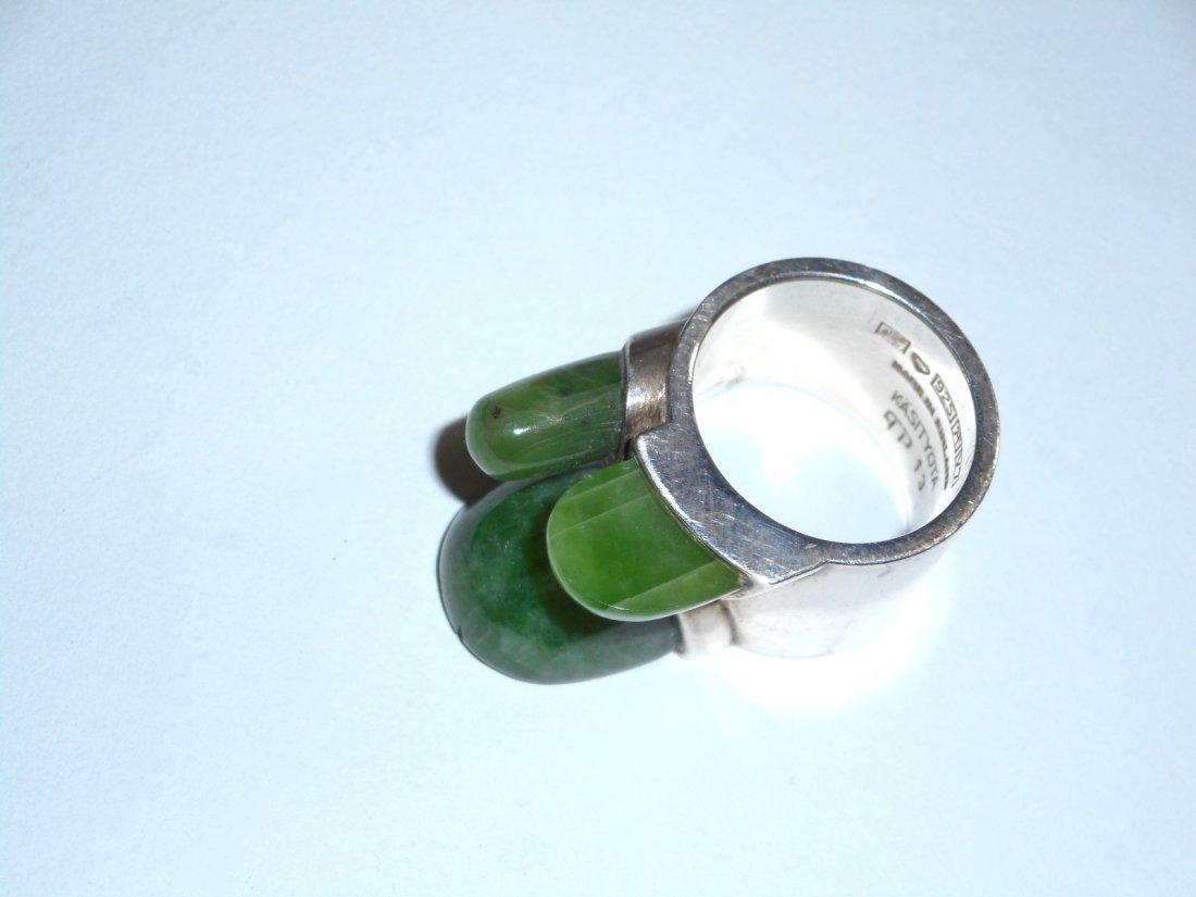 Taisto Palonen Modernist Nephrite Ring - 2