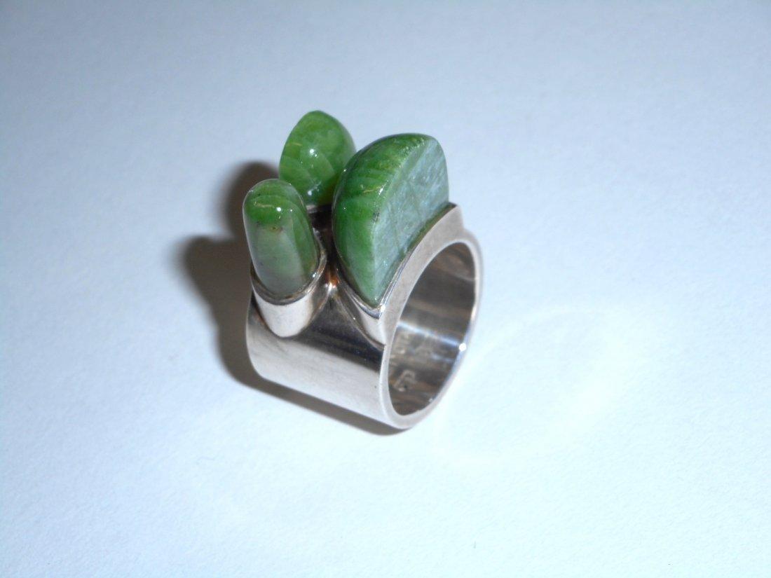 Taisto Palonen Modernist Nephrite Ring - 4