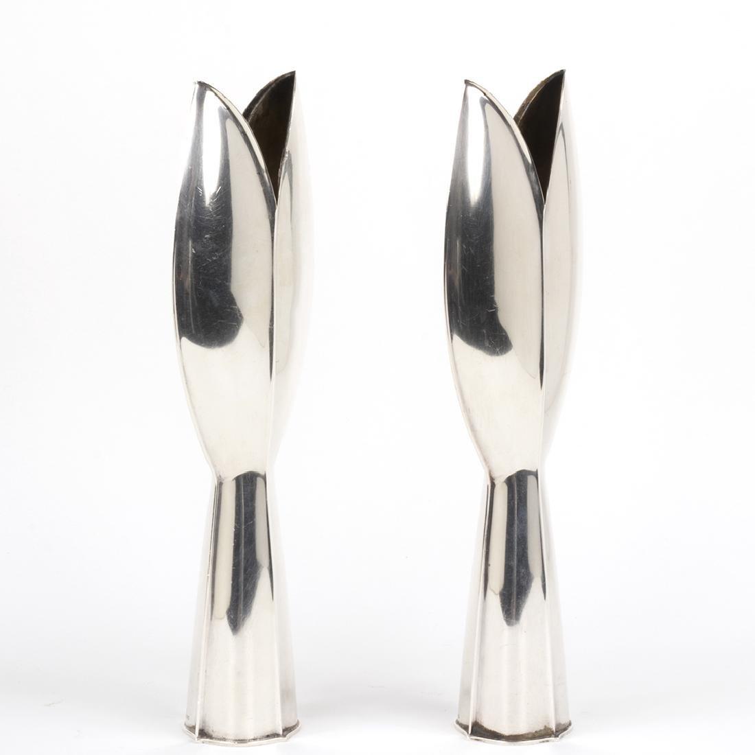 Tapio Wirkkala Sterling Silver Vases (2) - 2