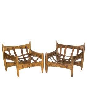 Sergio Rodrigues Sheriff Chairs (2)