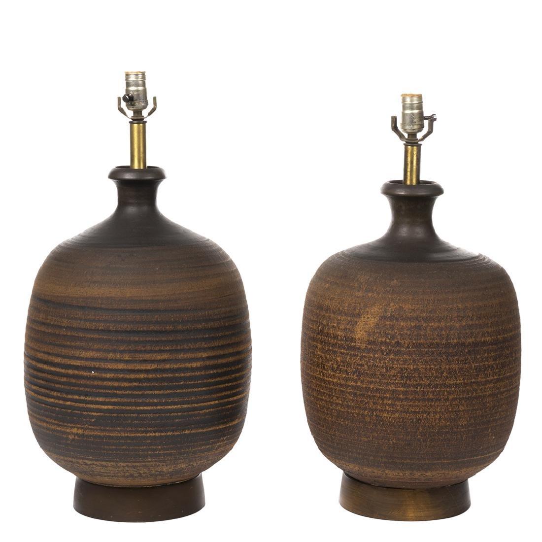 Bob Kinzie Ceramic Table Lamps