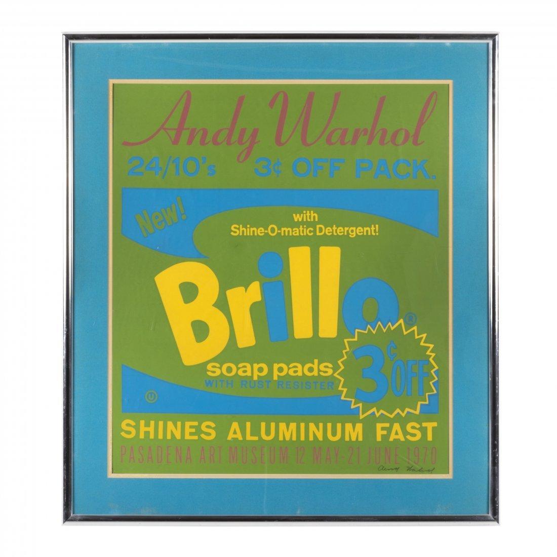 Andy Warhol Signed Brillo Silkscreen