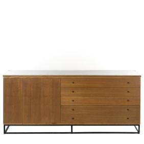 Paul McCobb Style Credenza With Hutch