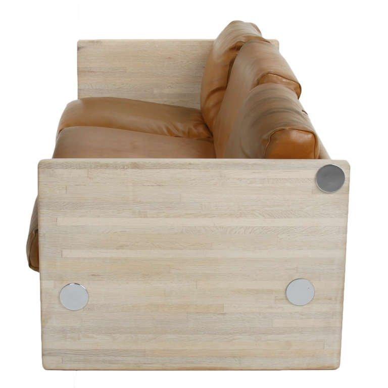 Milo Baughman Bleached Oak Sofa - 2