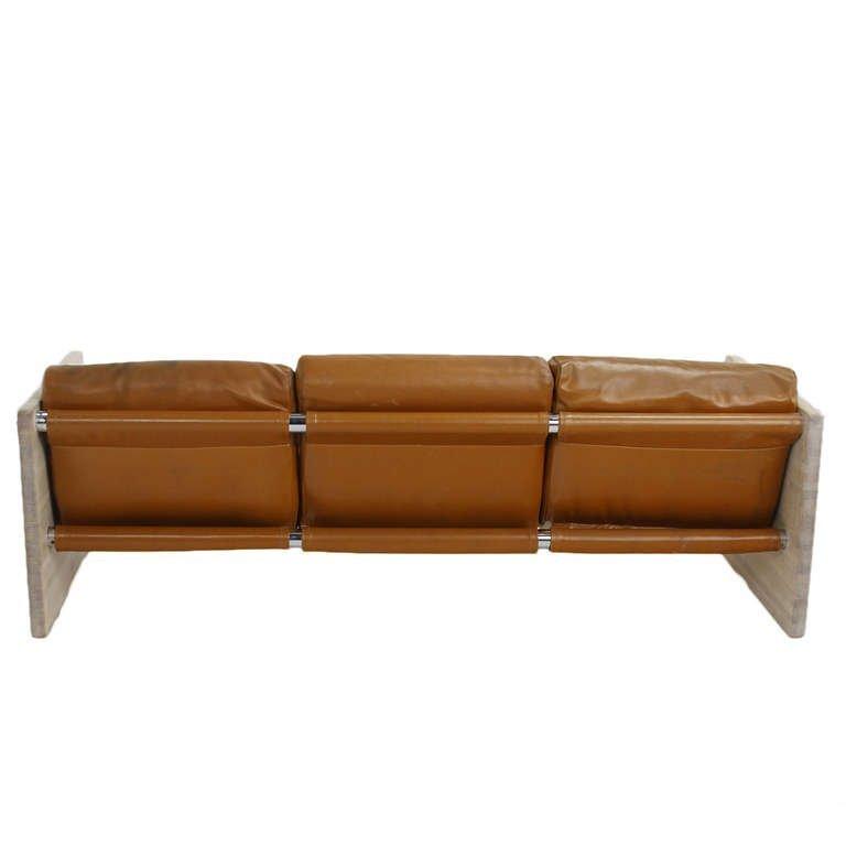 Milo Baughman Bleached Oak Sofa - 3