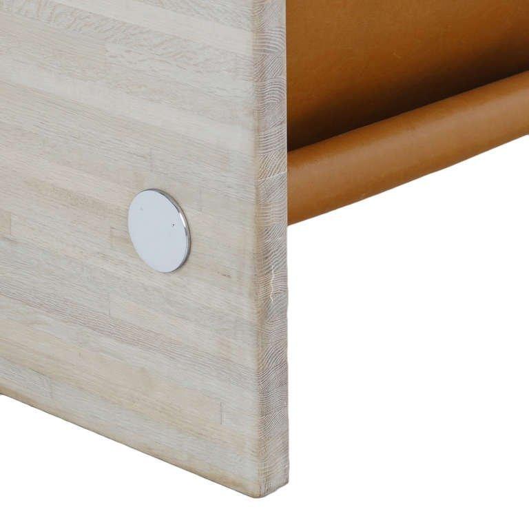 Milo Baughman Bleached Oak Sofa - 4