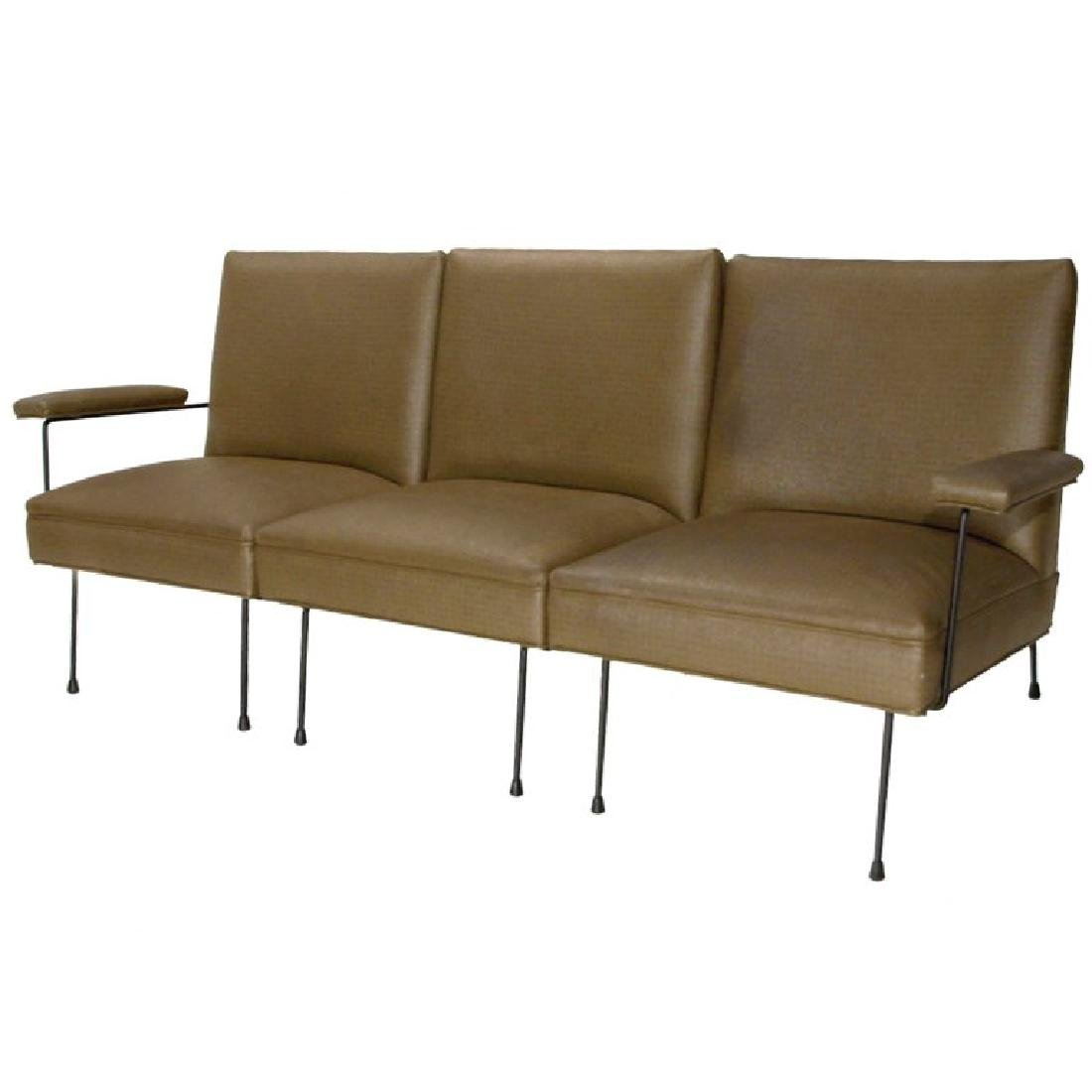 Milo Baughman Iron Frame Sectional Sofa
