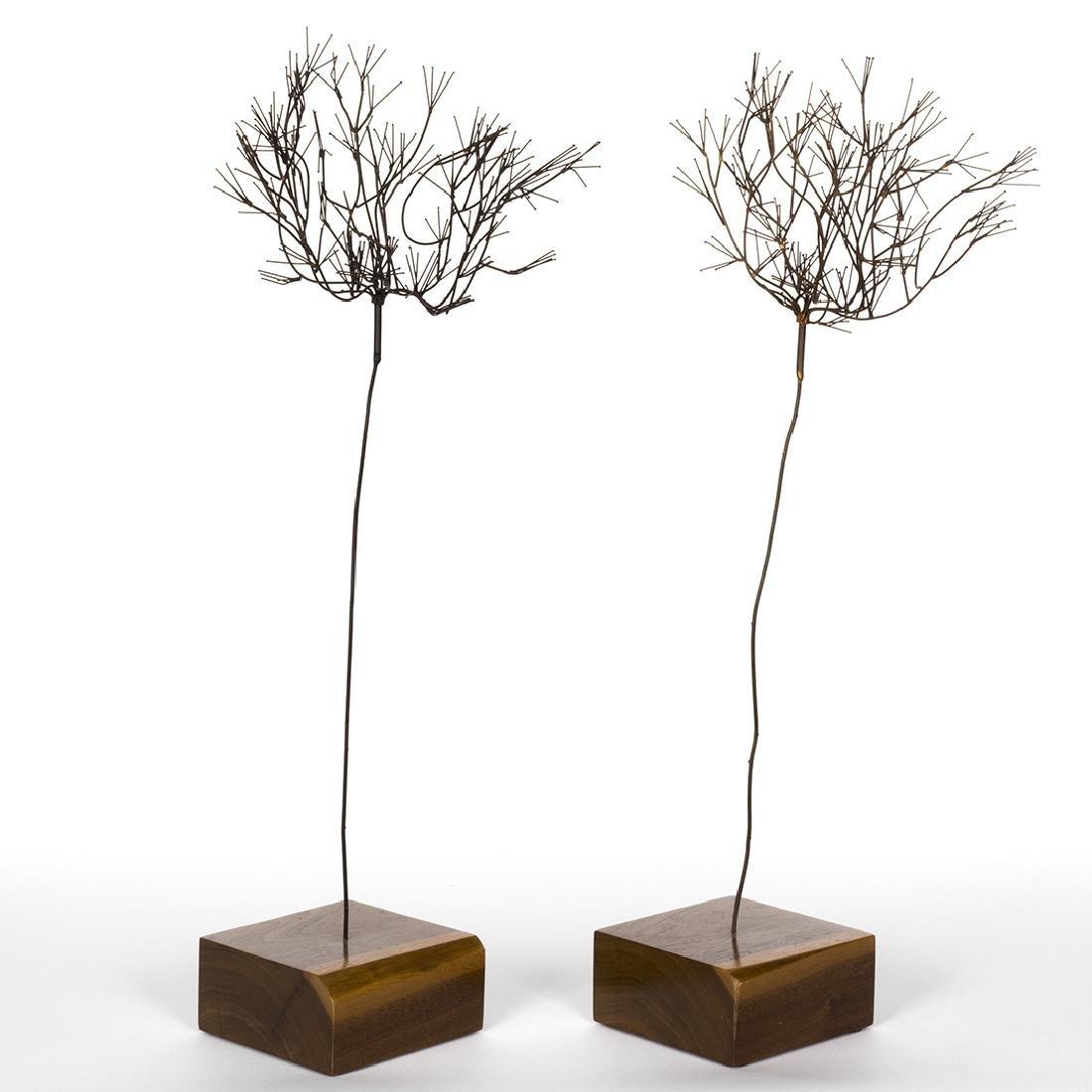 Mid-Century Metal Tree Sculptures (2) - 2