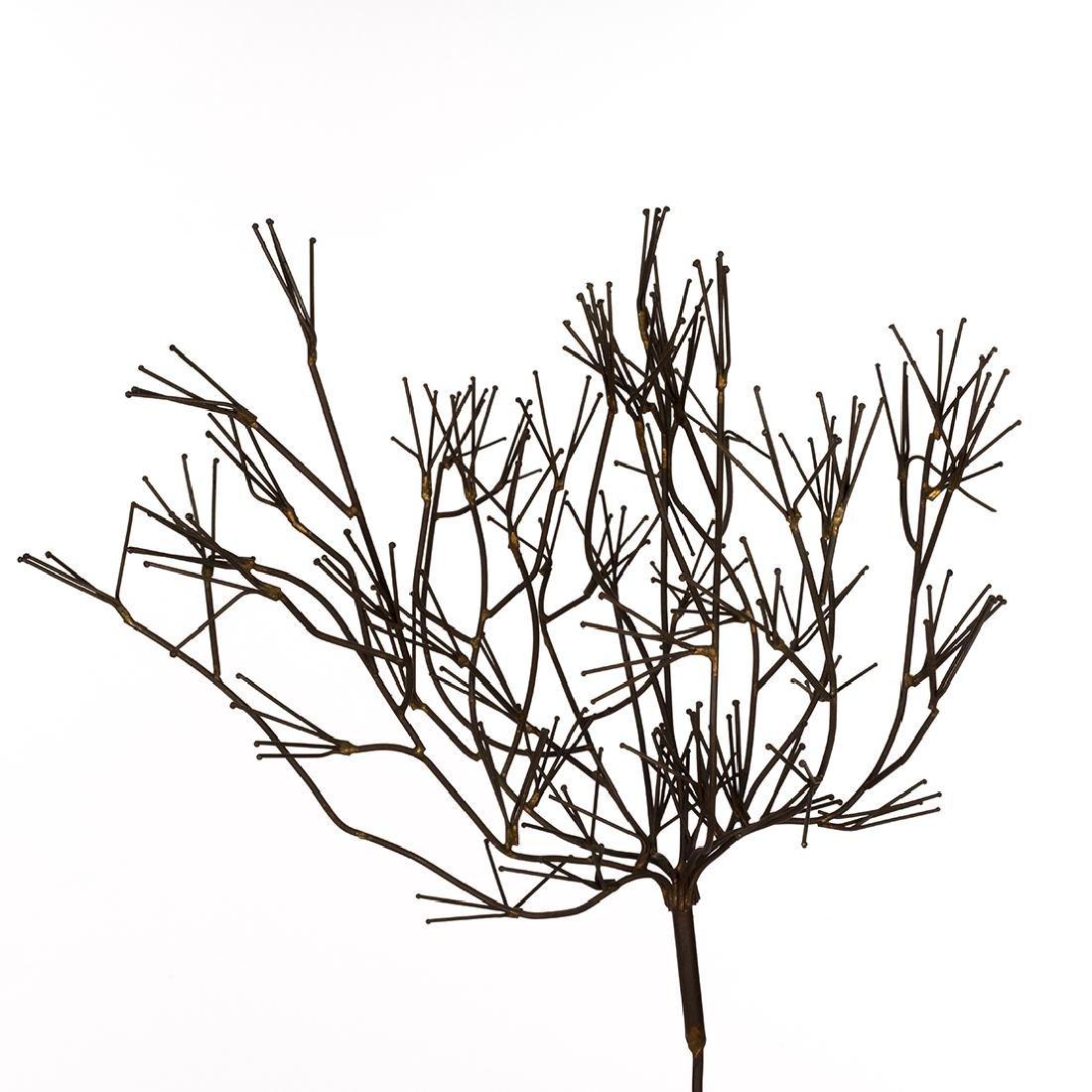 Mid-Century Metal Tree Sculptures (2) - 4