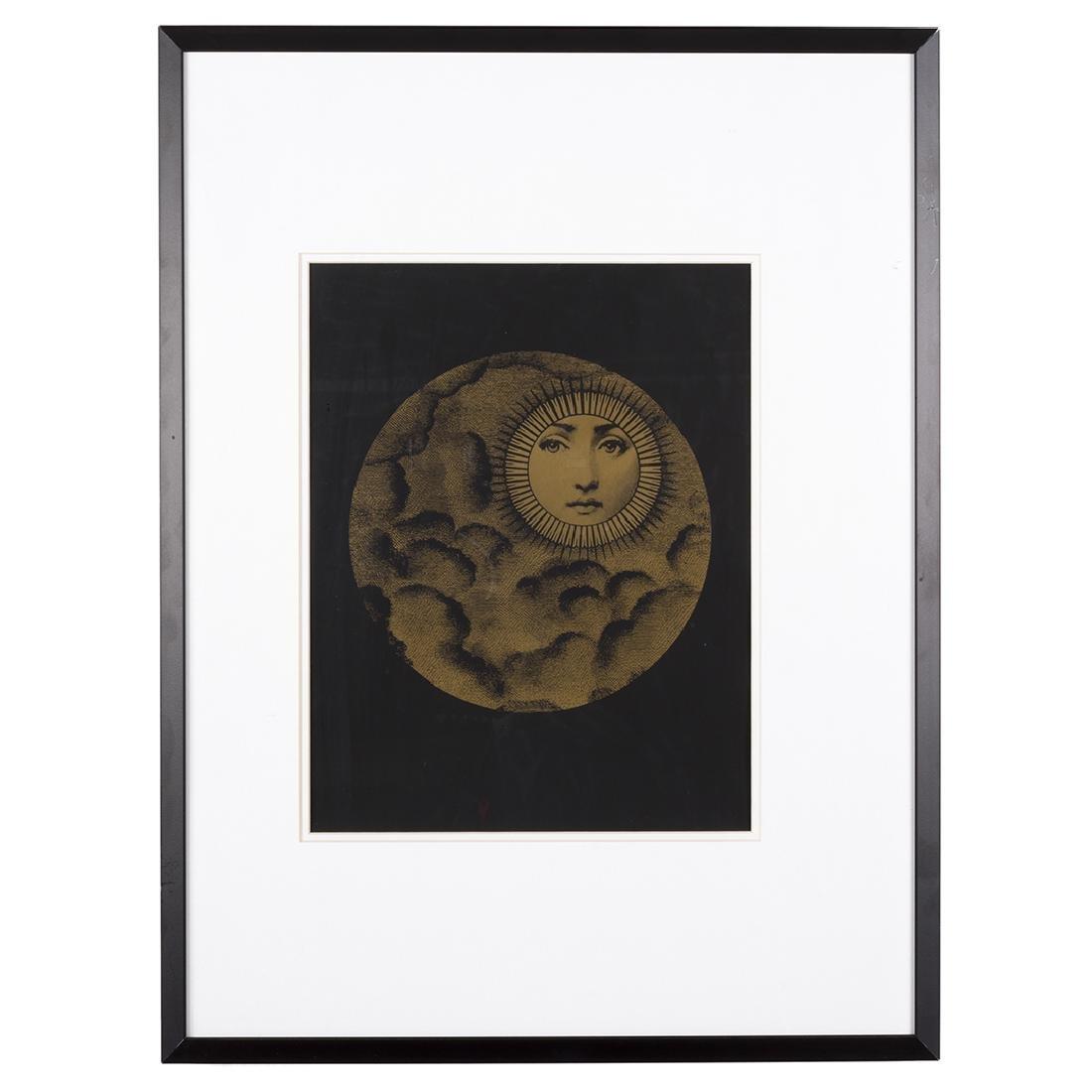 Piero Fornasetti Sole and Luna Silk Screen Prints (2) - 2