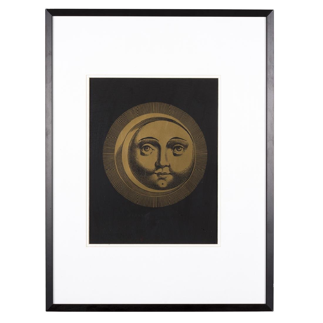 Piero Fornasetti Sole and Luna Silk Screen Prints (2) - 3