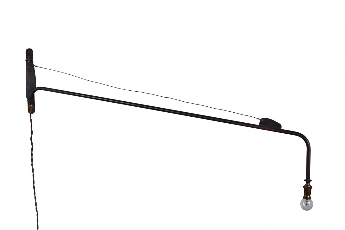 Jean Prouve Attributed Swing-Jib Lamp