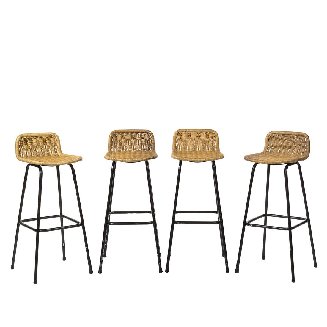 Charlotte Perriand Style Stools (4)