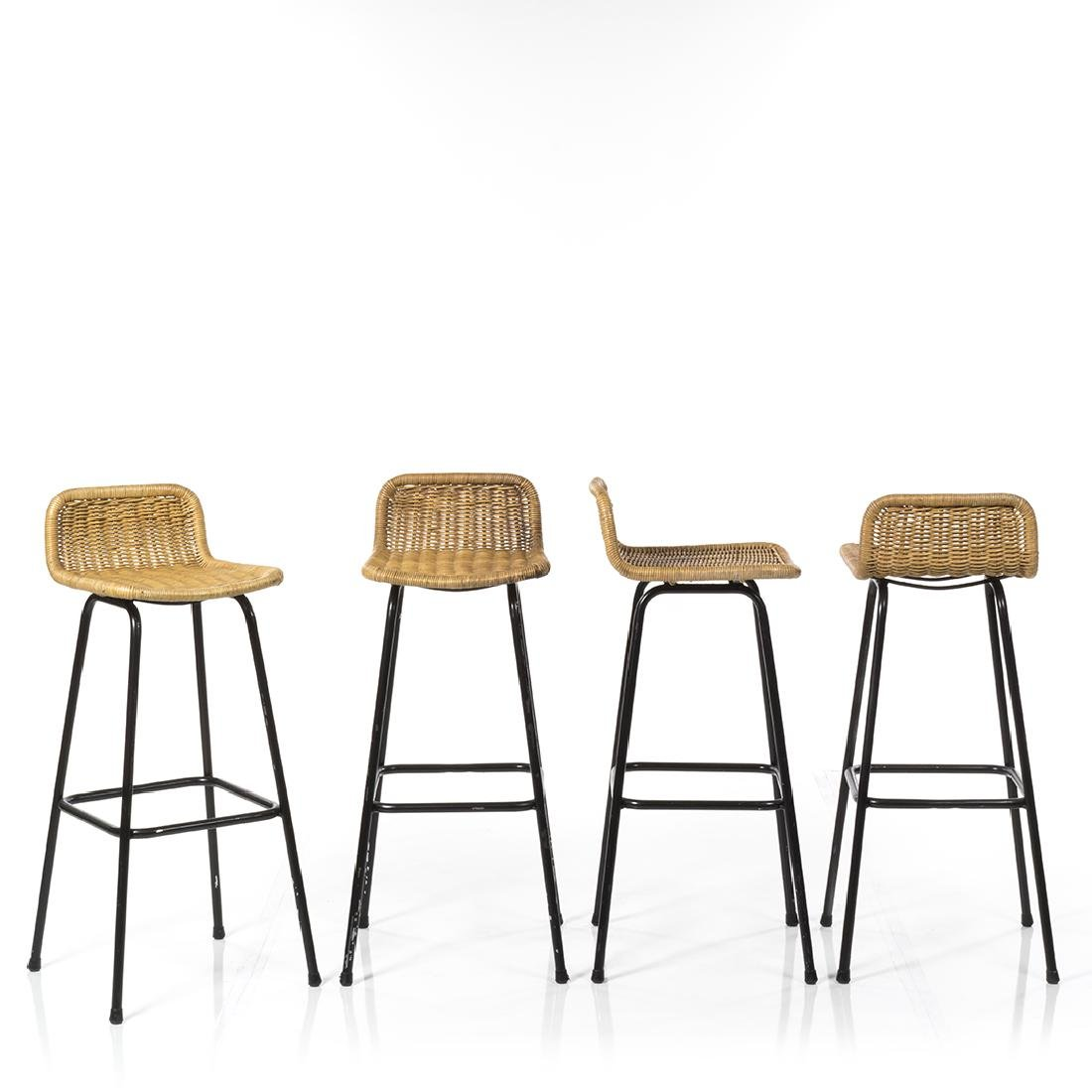Charlotte Perriand Style Stools (4) - 2