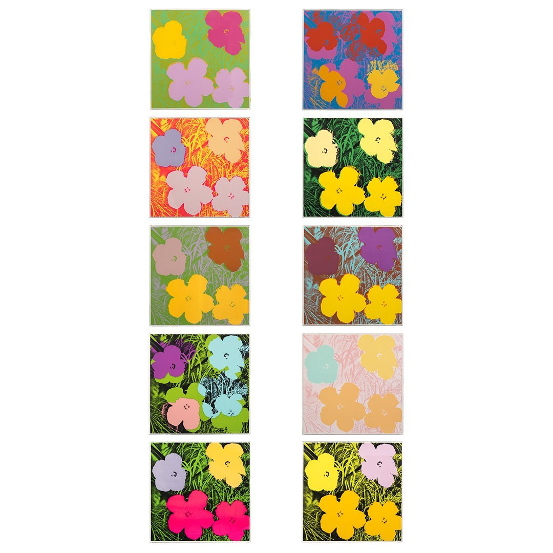Flowers Serigraphs by Andy Warhol (10)