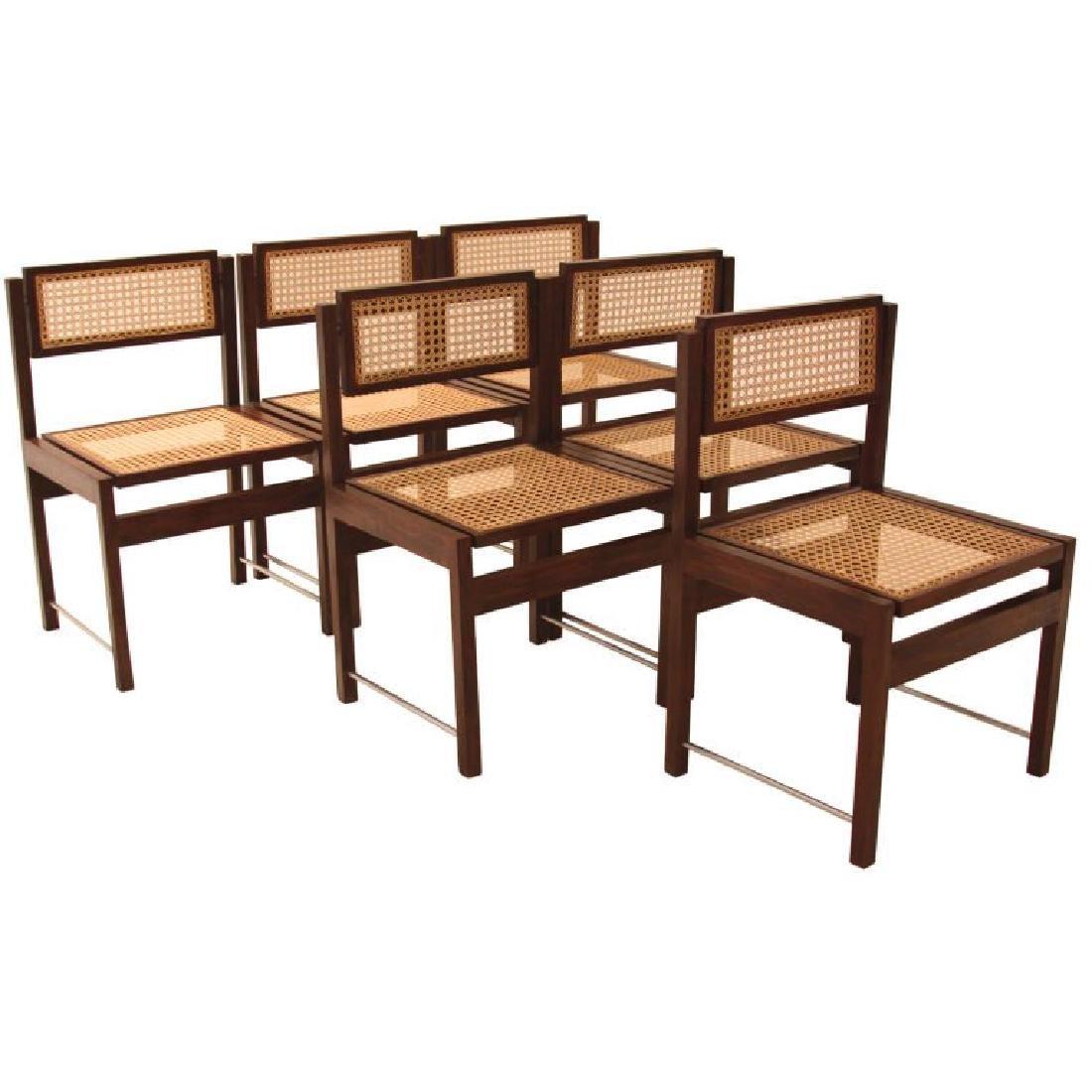 Brazilian Hardwood Swivel Back Dining Chairs (6)