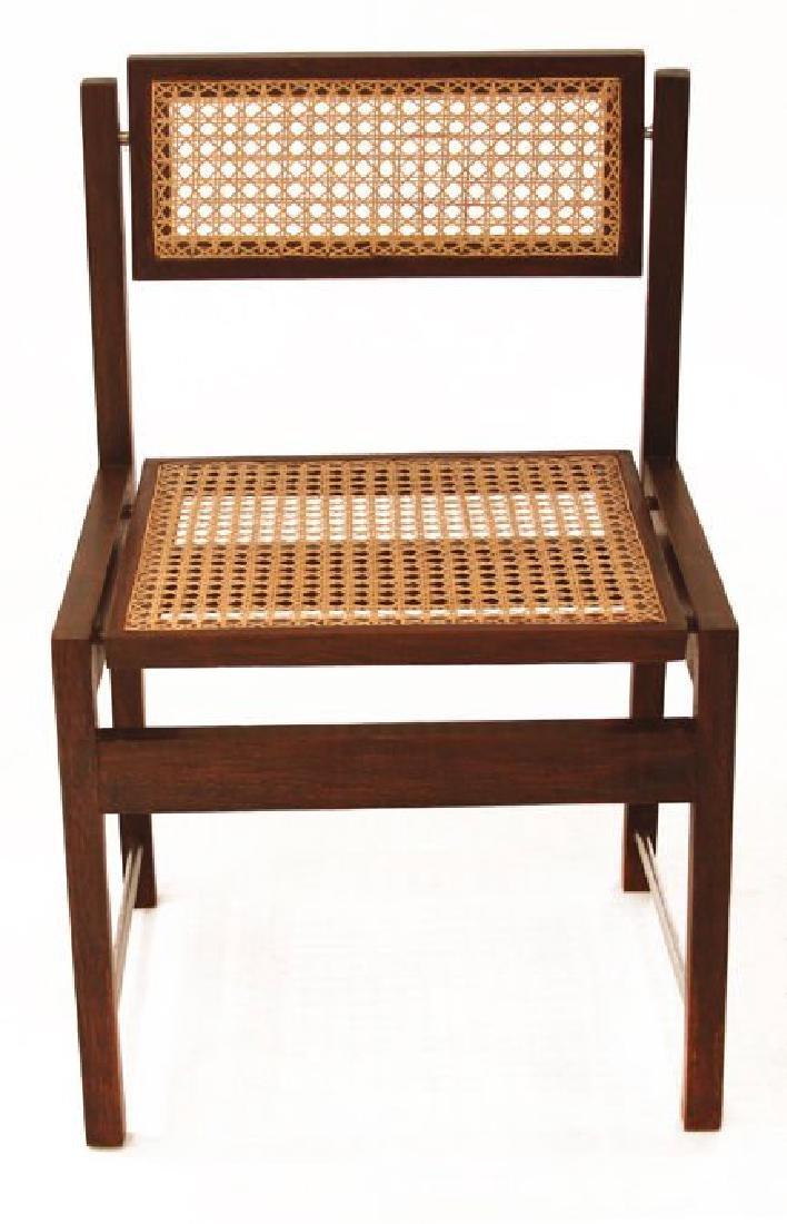 Brazilian Hardwood Swivel Back Dining Chairs (6) - 3