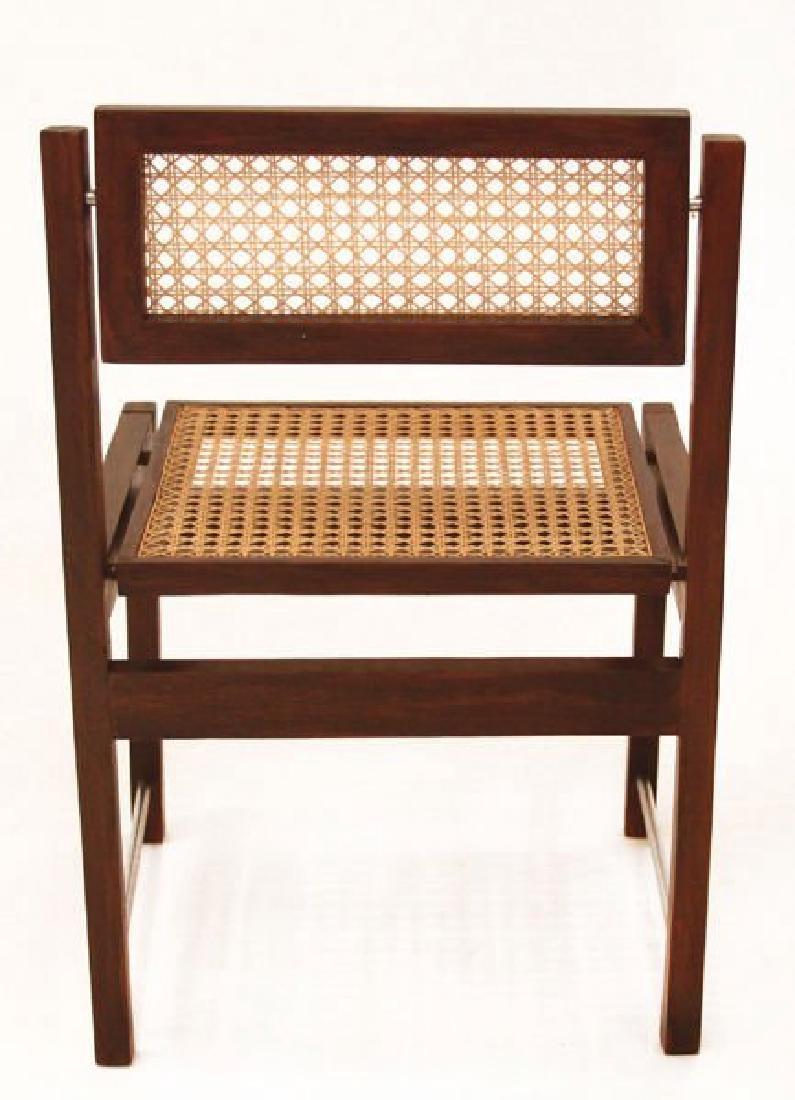 Brazilian Hardwood Swivel Back Dining Chairs (6) - 4