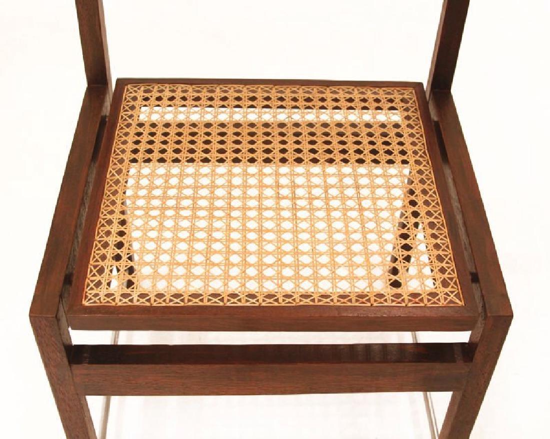 Brazilian Hardwood Swivel Back Dining Chairs (6) - 5