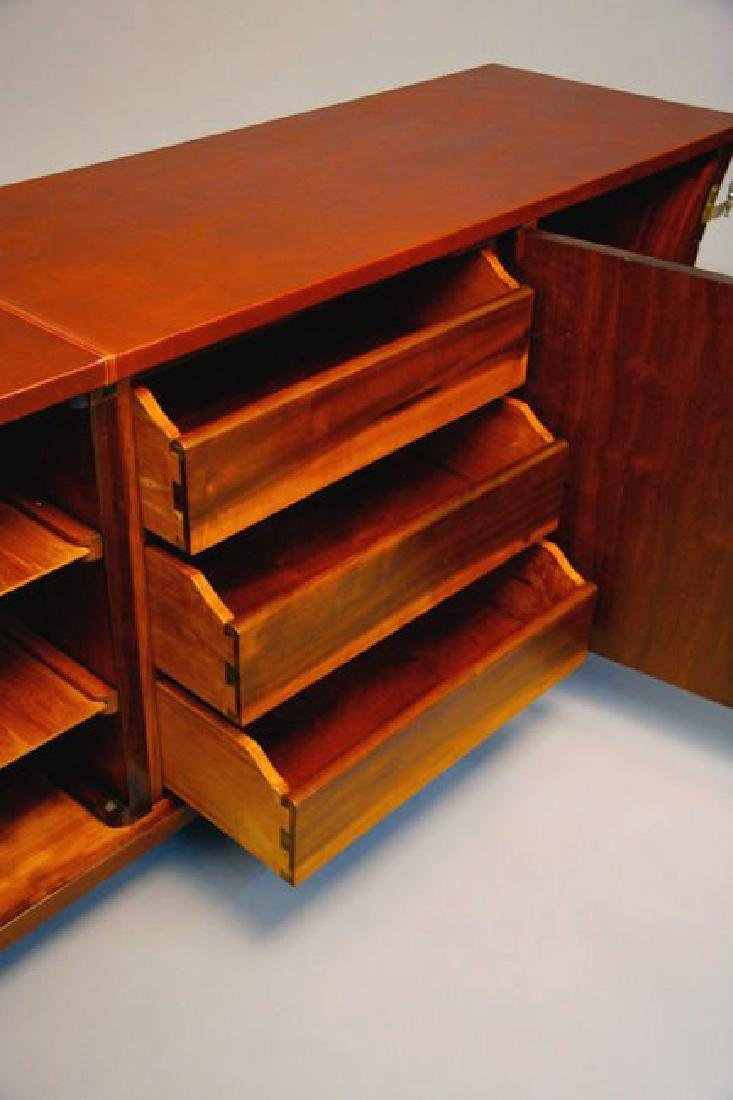 Brazilian Rosewood and Leather Cabinet - 3