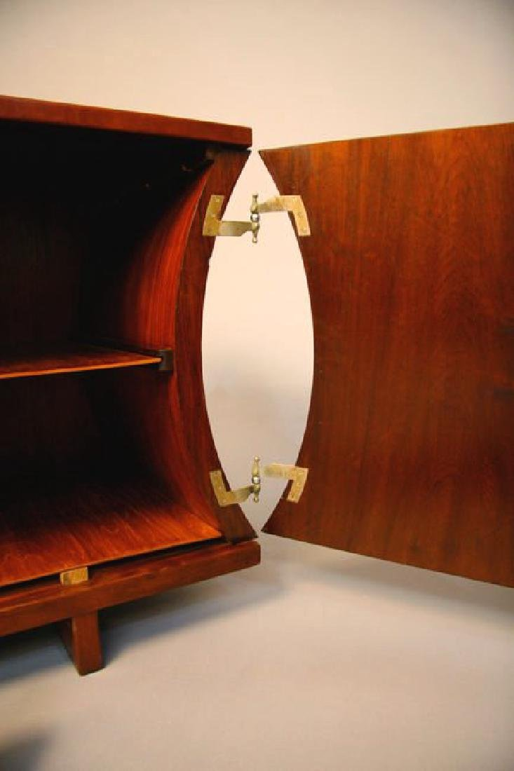 Brazilian Rosewood and Leather Cabinet - 4