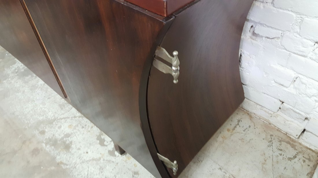 Brazilian Rosewood and Leather Cabinet - 7