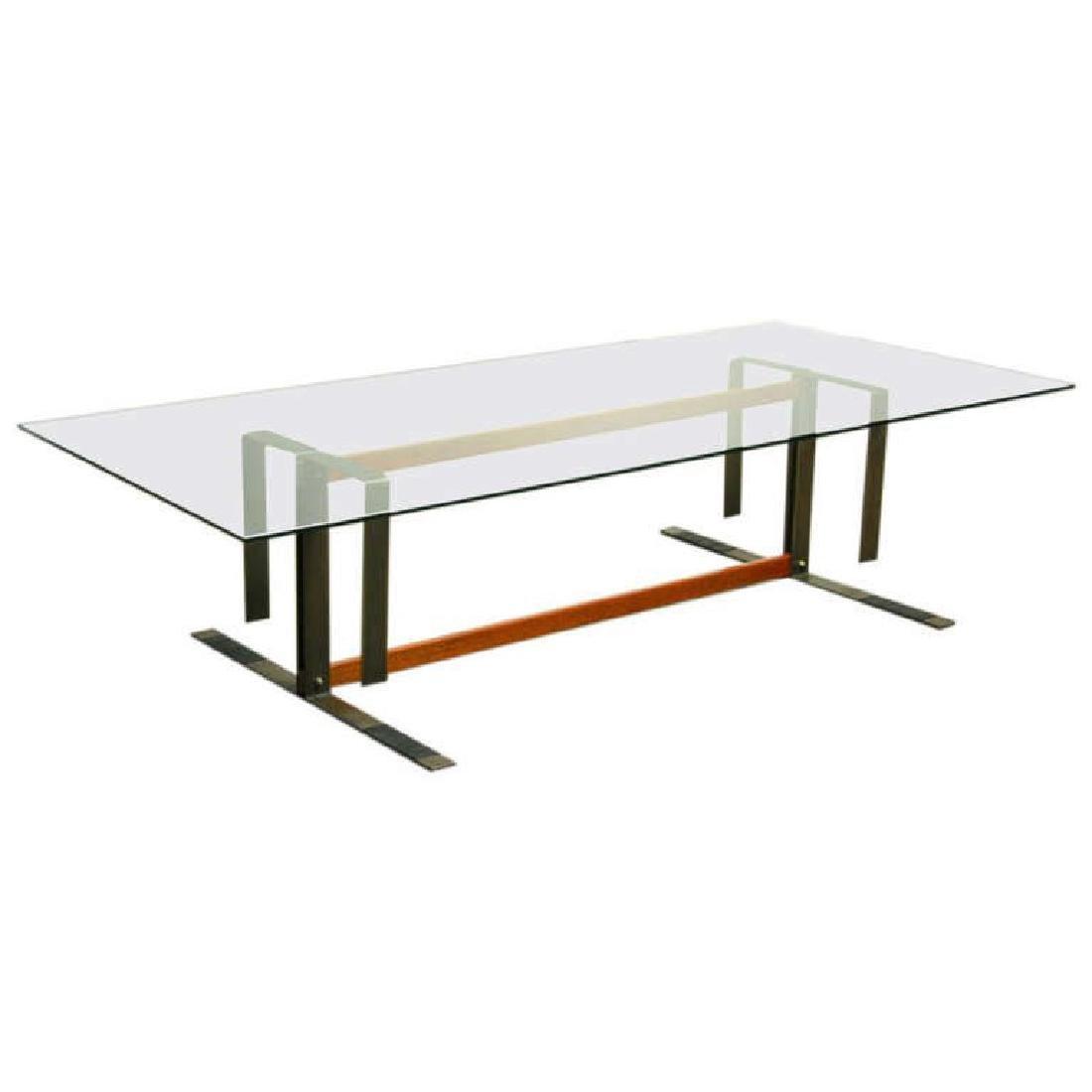 Bronze and Ipe Wood Coffee Table