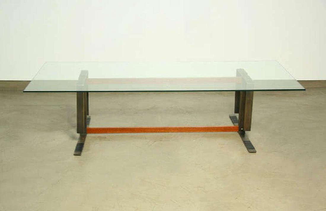 Bronze and Ipe Wood Coffee Table - 3
