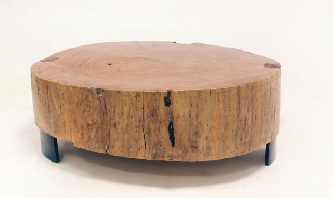 Peroba Wood Block Coffee Table - 2