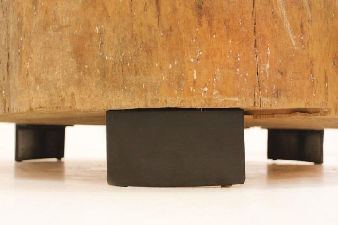 Peroba Wood Block Coffee Table - 5