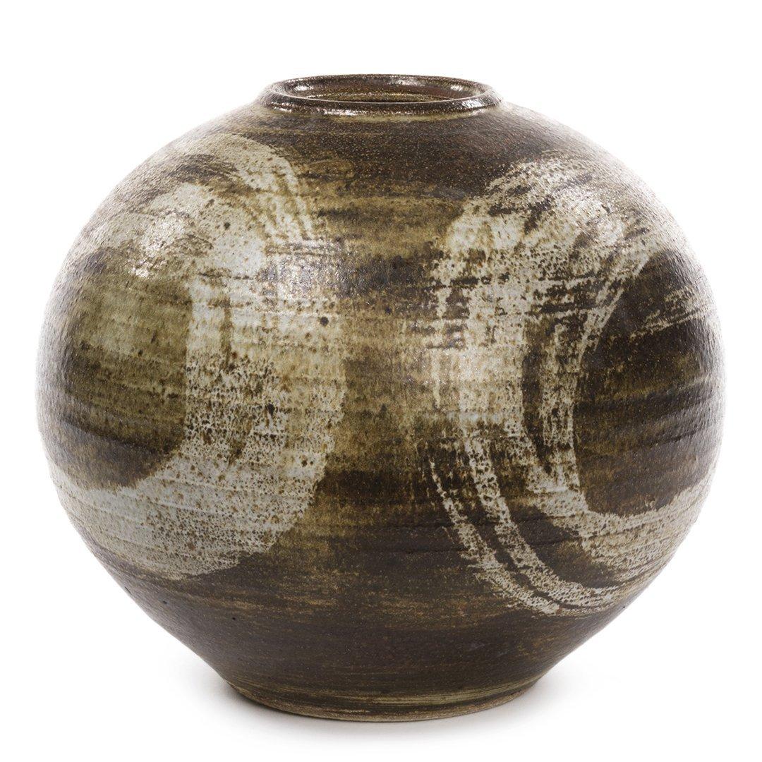 Signed Stoneware Pot