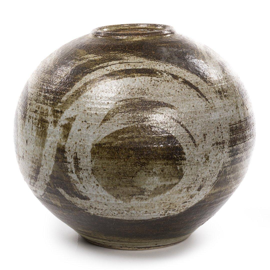 Signed Stoneware Pot - 2