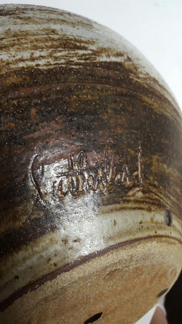 Signed Stoneware Pot - 4