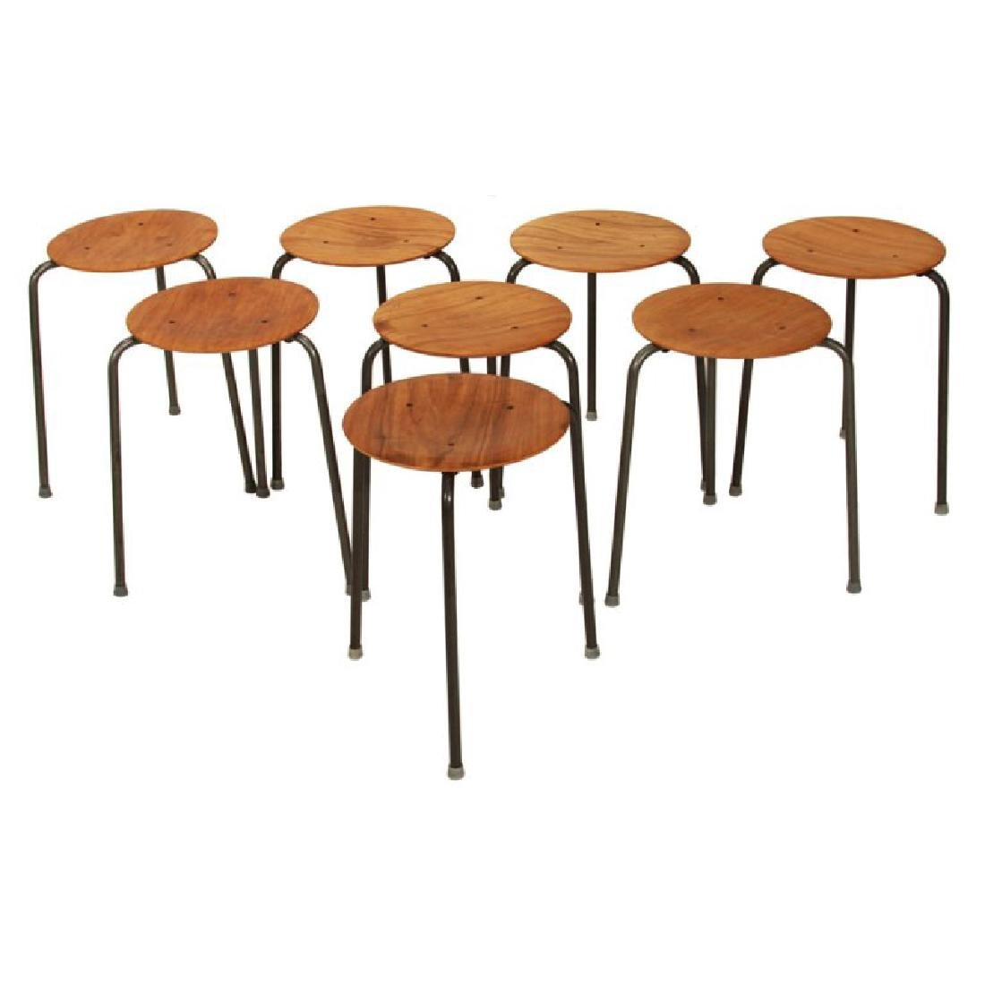 Molded Teak Plywood Stools (7)