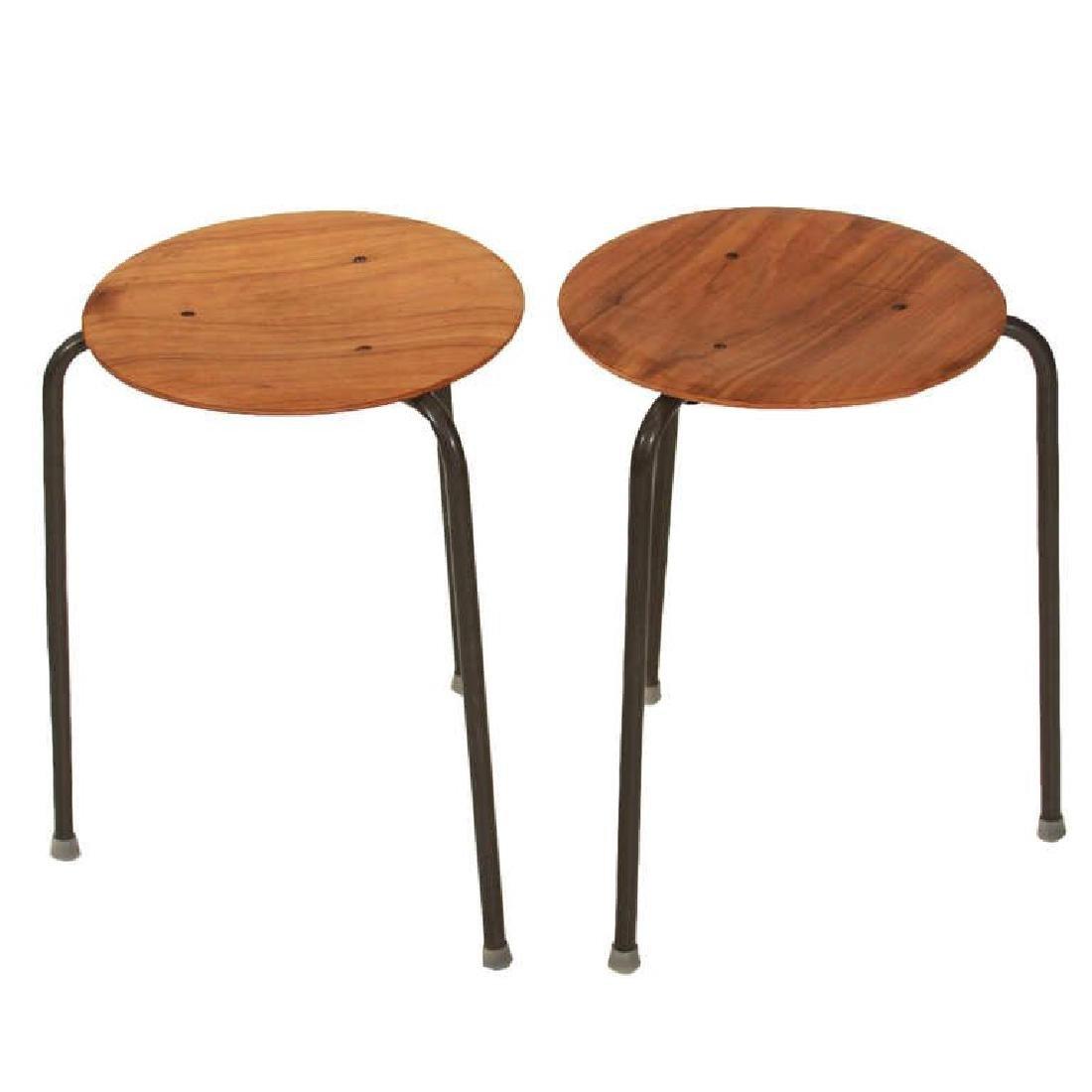 Molded Teak Plywood Stools (7) - 2