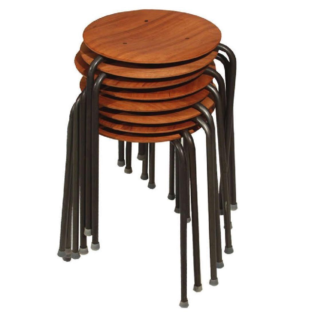 Molded Teak Plywood Stools (7) - 4
