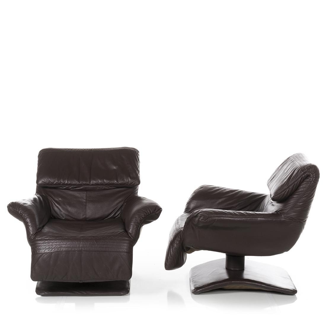 Scandinavian Leather Club Chairs (2) - 3