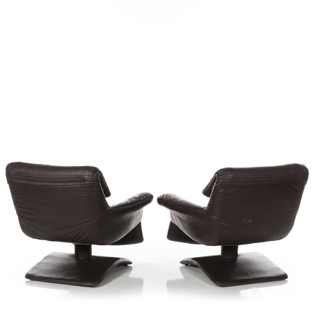 Scandinavian Leather Club Chairs (2) - 4