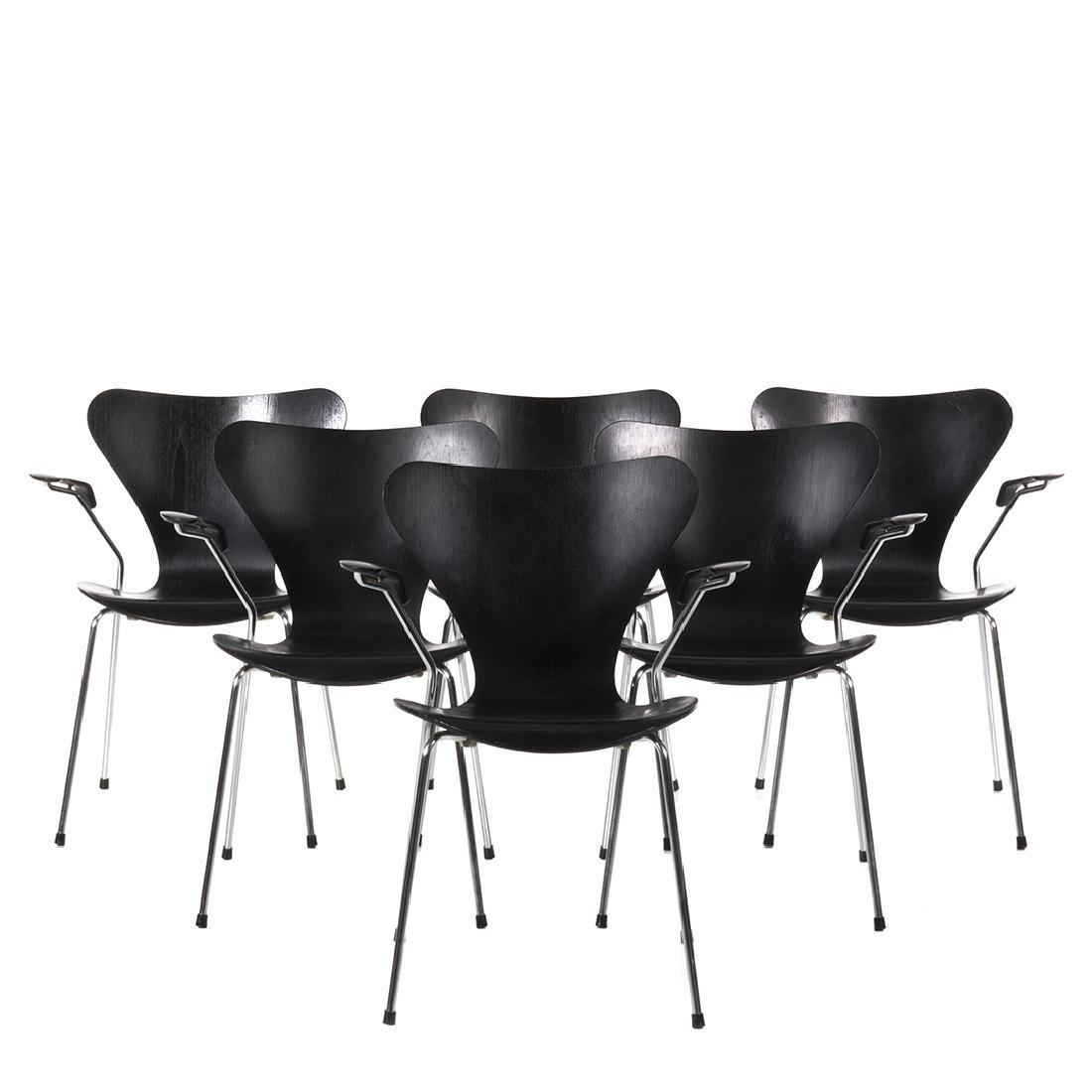 Arne Jacobsen Armchairs (6)