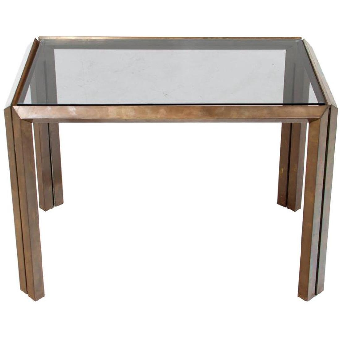 Mid-Century Bronze Side Table