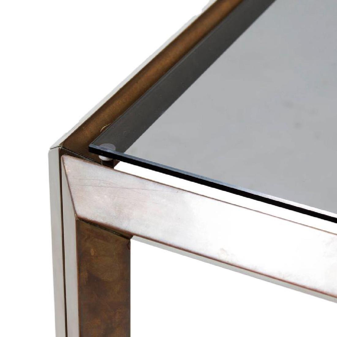 Mid-Century Bronze Side Table - 2