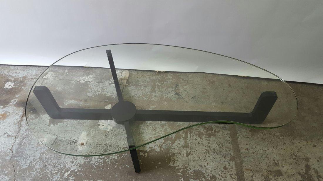 Mid- century Biomorphic Glass Top Table - 2
